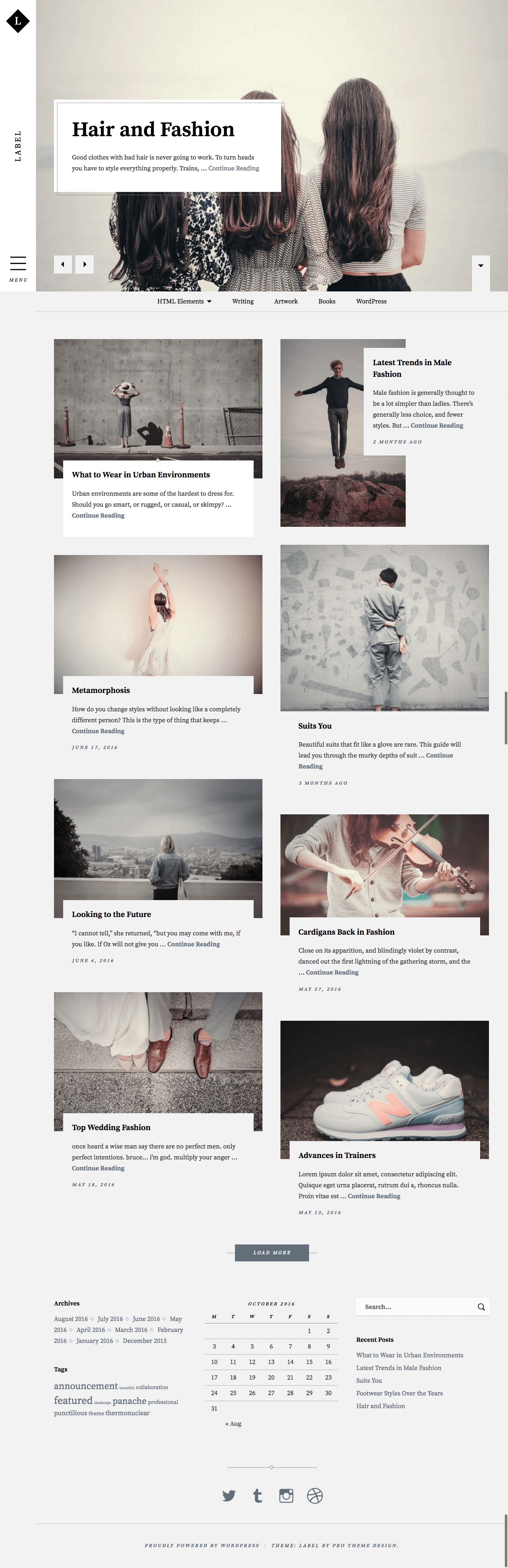 Label WordPress Theme